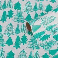 'Silver Woodland Reindeer Wrapping Paper