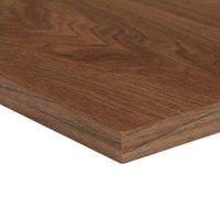 Chipboard Walnut Furniture board (L)2500mm (W)300mm (T)18mm