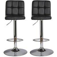BandQ Lagan Black Bar stool  Pack of 2