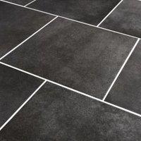 Konkrete Grey Concrete effect Modern Porcelain Floor tile   Sample  (L)426mm (W)426mm