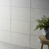 Cimenti Light grey Matt Ceramic Wall tile (L)400mm (W)250mm Sample