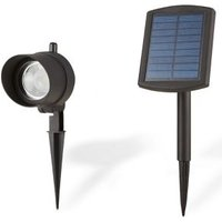 Blooma Bridger Matt Black Solar-powered LED External Spike light