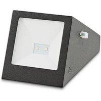 Blooma Plevna Black Solar-powered LED External Brick Wall light
