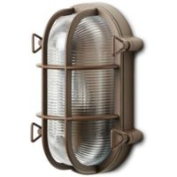Blooma Clermont Powder coated Dark brown Mains powered Bulkhead wall light