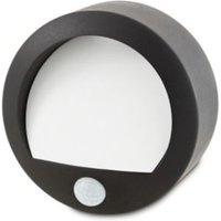 Blooma Melville Powder coated Black Battery powered Outdoor wall light