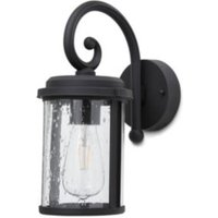 Blooma Tonsina Powder coated Black Mains Outdoor wall light