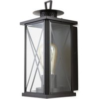Blooma Belleterre Matt Black Mains-powered Halogen Outdoor Wall light