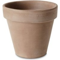 Laleh Brown Terracotta Plant pot (Dia)17.1cm