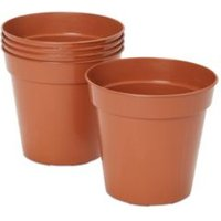 Lei Round Brown Grow Pot (H)150mm (Dia)127mm  Pack of 5