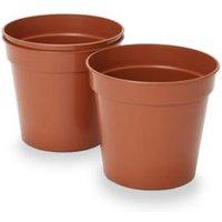 Lei Terracotta Plastic Grow pot (Dia)18cm Pack of 3