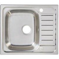 Cooke & Lewis Sagan 1 Bowl Polished Stainless Steel Compact Sink