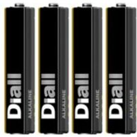 Diall Non rechargeable AAA Battery Pack of 4.