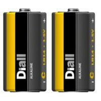 Diall Non rechargeable C (LR14) Battery Pack of 2.