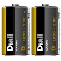 Diall Non rechargeable D (LR20) Battery Pack of 2.