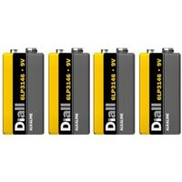 Diall Non rechargeable 9V Battery Pack of 4.