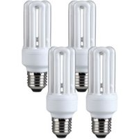 Diall E27 11W 630lm Stick CFL Light bulb Pack of 4