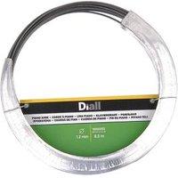 Diall Black Steel Piano wire (L)8.5m (Dia)1.2mm.