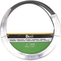 Diall Black Steel Piano wire (L)5.5m (Dia)1.3mm.