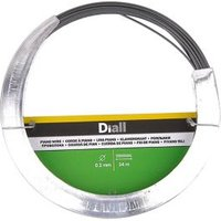Diall Black Steel Piano wire (L)34m (Dia)0.2mm.