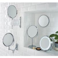 Cooke and Lewis Harlech Round Bathroom Mirror (H)345mm (W)225mm