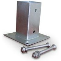 'Blooma Steel Post Support (l)45mm (w)45mm