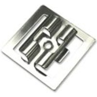 Blooma Polished Stainless Steel Fixing clip (L)45mm  Pack of 50