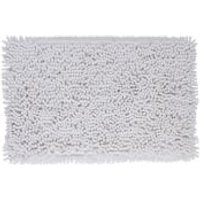 Cooke & Lewis Abava White Polyester Slip resistant Bath mat (L)800mm (W)500mm