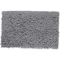 Cooke & Lewis Abava Silver Polyester Slip resistant Bath mat (L)800mm (W)500mm