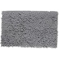 Cooke & Lewis Abava Silver Polyester Bath Mat (L)800mm (W)500mm