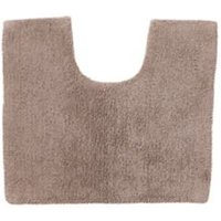 Cooke and Lewis Diani Taupe Cotton Tufty Slip resistant Bath mat (L)500mm (W)450mm