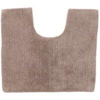 Cooke & Lewis Diani Taupe Tufty Cotton Anti-Slip Bath Mat (L)500mm (W)450mm