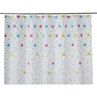 Cooke & Lewis Bhama Multicolour Star Shower Curtain (L)1800 mm