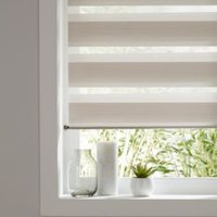Colours Kala Day & Night Corded Natural Roller Blind (L)240 cm (W)180 cm