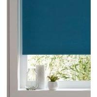 Colours Boreas Corded Blue Blackout roller blind (L)180 cm (W)120 cm