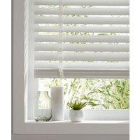Lone White Wood grain effect PVC Venetian Blind (W)180cm (L)180cm