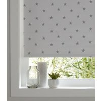 Colours Boreas Corded Grey & ivory Blackout roller blind (L)195 cm (W)60 cm