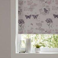 Colours Boreas Corded Ivory & pink Blackout roller blind (L)195 cm (W)90 cm