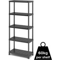 Black Shelving unit (H)1820mm (W)800mm