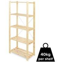 Form Symbios 5 shelf Wood Shelving unit