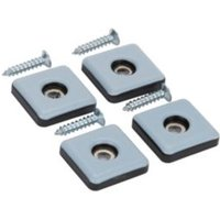 Diall Black & grey PTFE Glide  Pack of 4