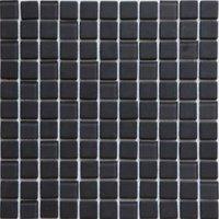 Genovia Black & Grey Glass Mosaic Tile  (L)300mm (W)300mm