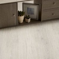 Lucknow Grey Oak effect Laminate flooring 1.996 m² Pack
