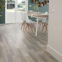GoodHome Addington Grey Oak effect Laminate flooring  2m² Pack