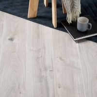 GoodHome Gladstone Grey Oak effect Laminate flooring  2m² Pack