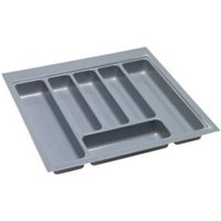 B&Q Grey Stainless Steel Effect Plastic Kitchen Utensil Tray