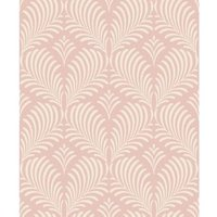 Rasch Lois Damask Rose gold glitter effect Embossed Wallpaper