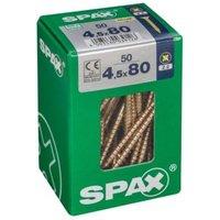 Spax CR vi free Steel Wood screw (Dia)4.5mm (L)80mm  Pack of 50