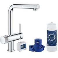 Grohe Blue Pure Chrome effect Kitchen Side lever pull out Tap