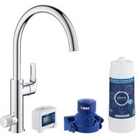 Grohe Blue Pure Chrome effect Kitchen Side lever Tap