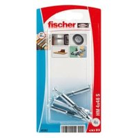 Fischer Steel Hollow wall anchor (L)45mm Pack of 4.